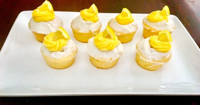 Zoey's Favorite Lemon Coconut Gluten and Dairy Free Cupcakes